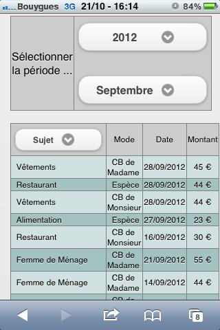 Gestion du Budget & Dépenses- screenshot