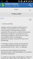 Screenshot of Kodeks drogowy i Prawo drogowe