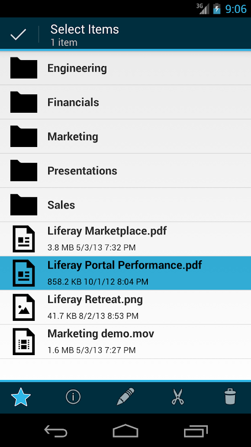 Liferay Sync - screenshot