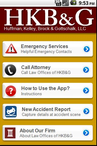 Accident App by HKB&G- screenshot