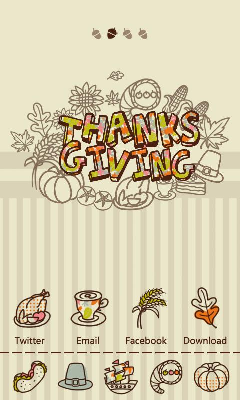 S-ThanksgivingGOLauncher Theme - screenshot