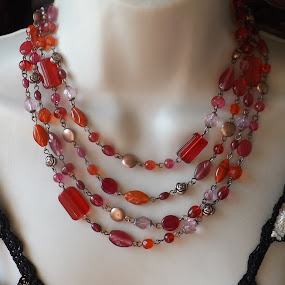 Glass Bead Necklace by Janet Skoyles - Artistic Objects Jewelry (  )