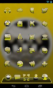 NEXT žlutá ještěrka HD téma - náhled