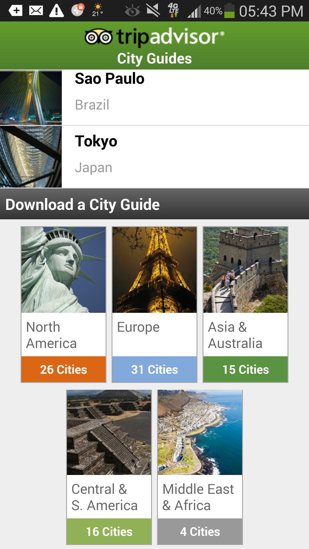 City Guides Catalog screenshot #1