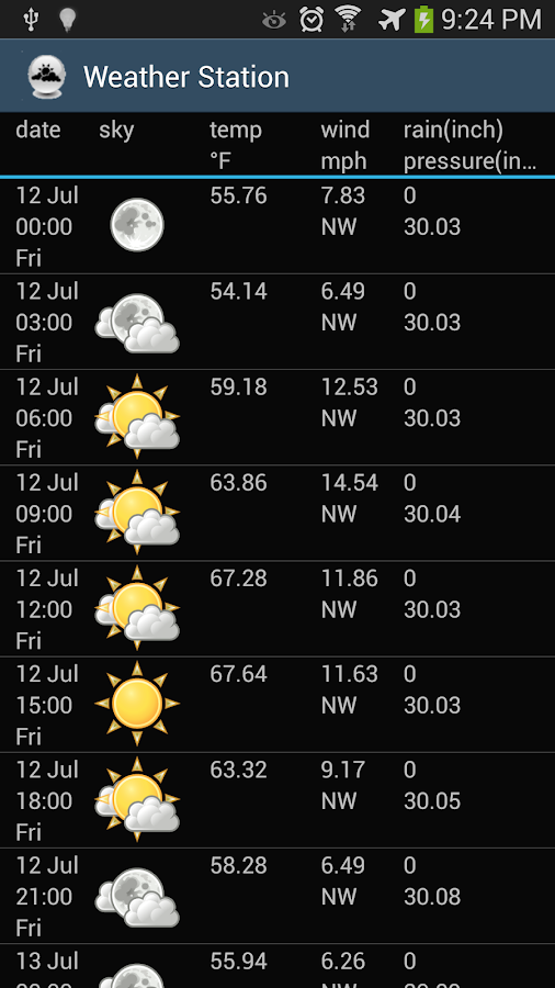 Weather Station - screenshot