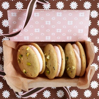 Pistachio-Cardamom Whoopie Pies with Rosewater Buttercream