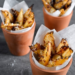 Roast Swede Wedges with Parmesan Recipe