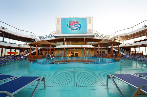 Carnival-Breeze-Dive-In-Movies - Relax at the pool and enjoy a Dive in movie when you sail on Carnival Breeze.