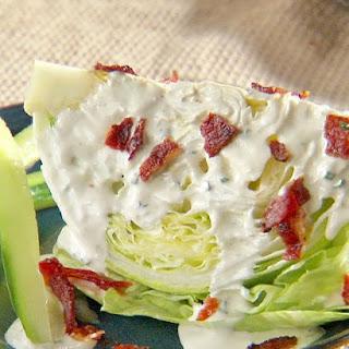 Iceberg Wedge Salad with Green Goddess Ranch Dressing.