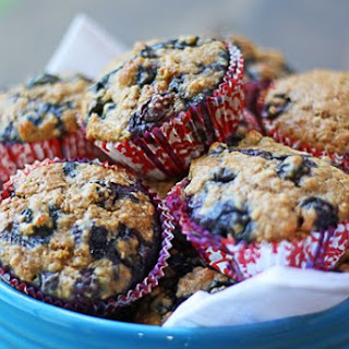 The BEST Blueberry Oatmeal Muffins.