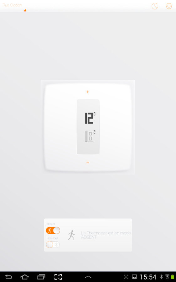 Termostato Netatmo- screenshot