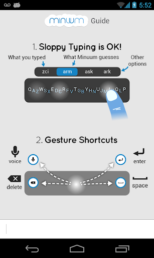 أحدث اصدار من الكيبورد المميز Minuum Keyboard v1.1.3