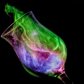 Colors in Glass by Fahad Iqbal - Artistic Objects Glass ( creative, spectrum, color, hue, artistic, glass, still, smoke )