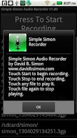 Screenshot of Simple Simon Voice Recorder