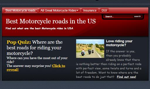 Best roads for Harley Davidson