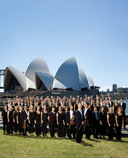 Sydney Symphony Orchestra with chief conductor and artistic director David Robertson at the Sydney Opera House