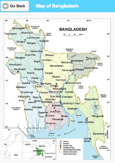 Map of Bangladesh Google Play Store revenue