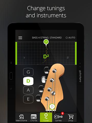 android Accordeur Guitares -GuitarTuna Screenshot 9