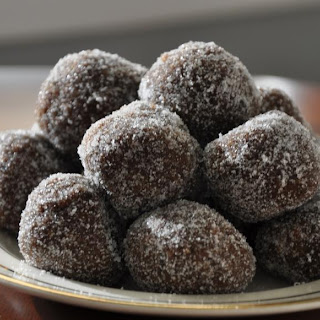 Ginger Plum Brandy Balls.