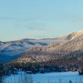 Whiteface from Lake Placid by Kim Verstringhe - Landscapes Mountains & Hills ( whiteface, lakeplacid, winter, sunset, landscape )