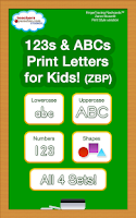 Screenshot of 123s ABCs Kids Handwriting ZBP