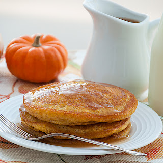 Pumpkin Patch Pancakes with Apple Cider Syrup.