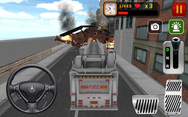 Firefighter truck 3d - screenshot