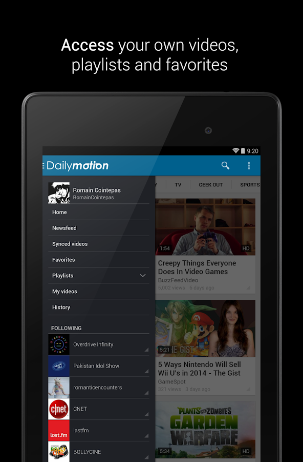 Dailymotion - screenshot
