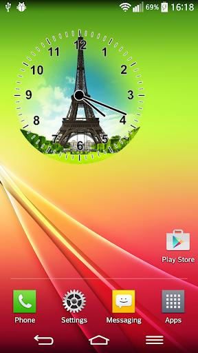 パリの時計ウィジェット