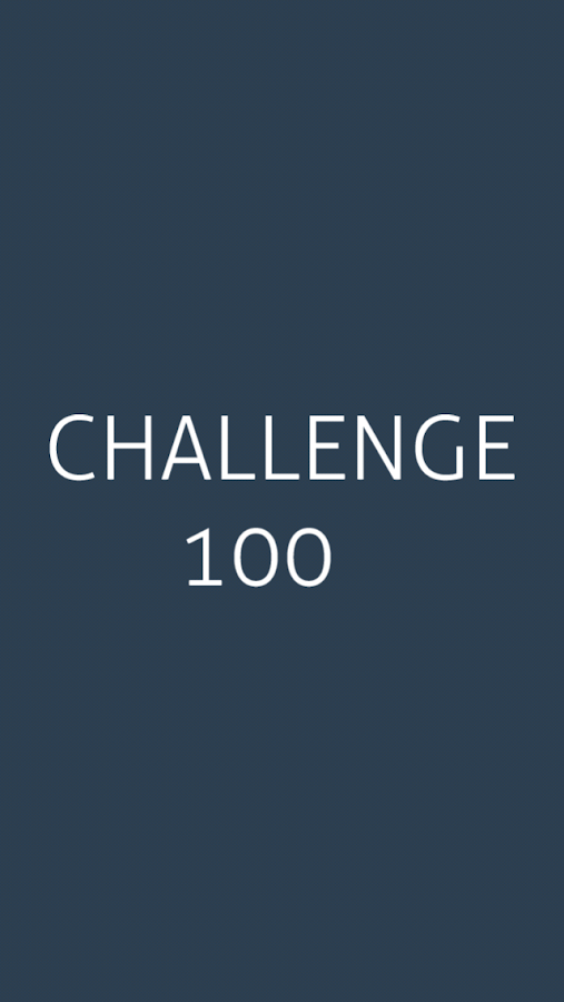 Challenge 100- screenshot