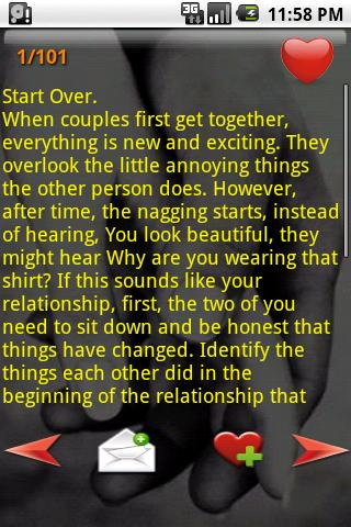 101 Relationships Tips - screenshot