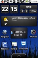 Screenshot of Network Widget