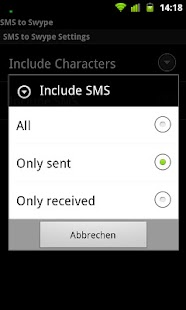 SMS to Swype - screenshot thumbnail