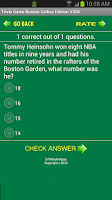 Screenshot of Trivia Game Boston Celtics Ed