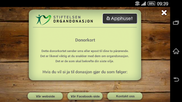 Screenshot of Donorkort