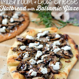 Mushroom & Goat Cheese Flatbreads with Balsamic Glaze