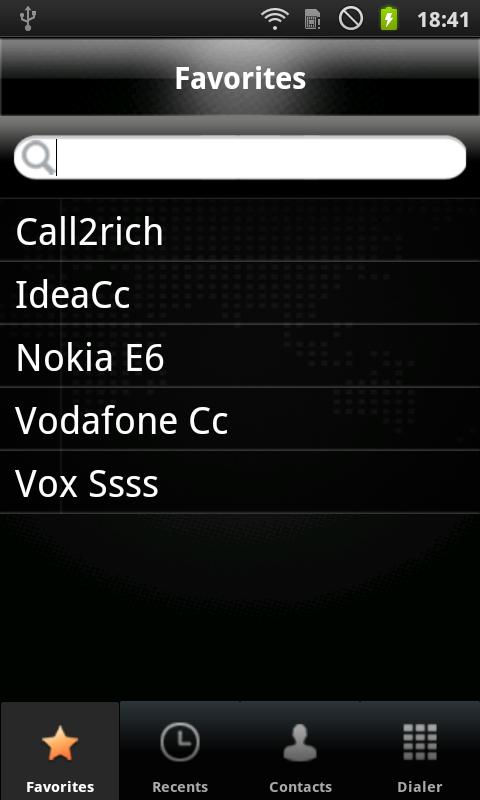 C2R Softphone - screenshot