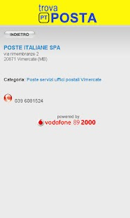 Trova Uffici Postali - screenshot thumbnail