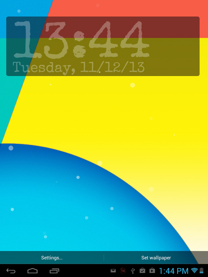 Nexus 5 KitKat - Digital Clock - screenshot