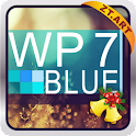 WP7blue Theme GO Launcher EX logo