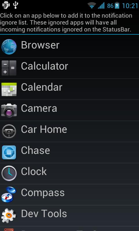 Jelly Bean StatusBar - screenshot