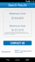 Screenshot of BMT Cost Calc
