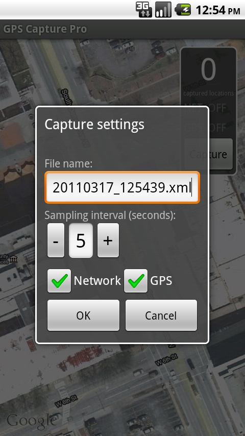 GPS Capture Pro - screenshot