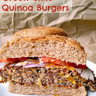#WeekdaySupper Green Chile Quinoa Burgers