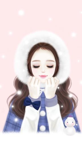 헷지 눈오는날 카카오톡 테마