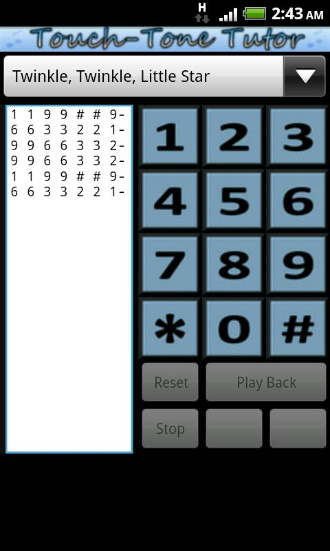 Touch-Tone Tutor - screenshot