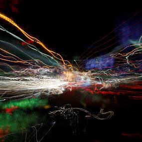 night ride, 2014 by Brut Carniollus - Abstract Light Painting ( lights, abstract, light painting, night photography, , city at night, street at night, park at night, nightlife, night life, nighttime in the city )