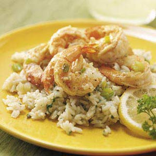 Lemon Shrimp with Parmesan Rice