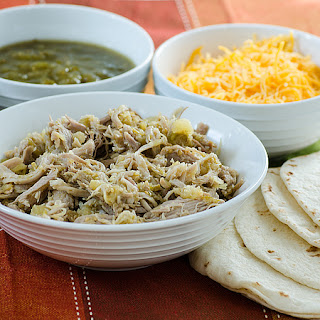 Pineapple and Green Chile Pork Tacos.