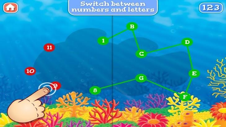 Ocean Life Dot To Dot for Kids screenshot